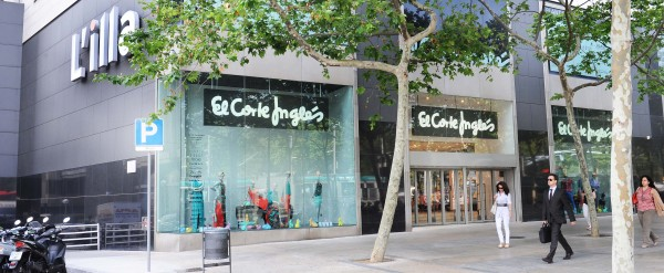 El Corte Inglés new corner at L'illa Diagonal, Barcelona
