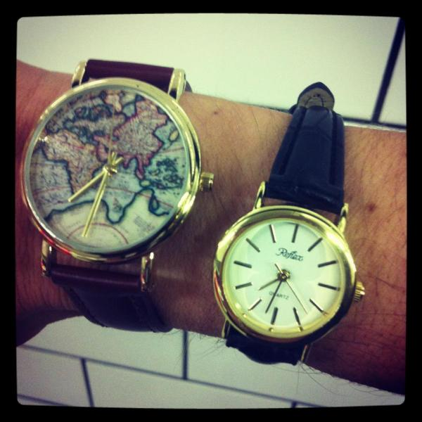 Map Printed Watch - Urban Outfitters