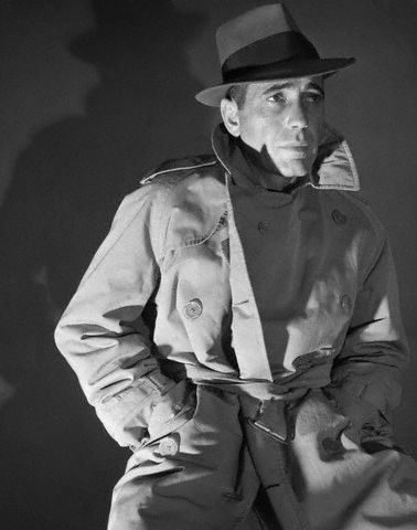 Humphrey Bogart in Trench Coat and Fedora