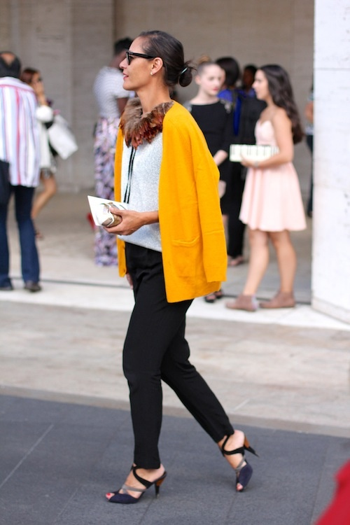 Yellow Knit Jacket