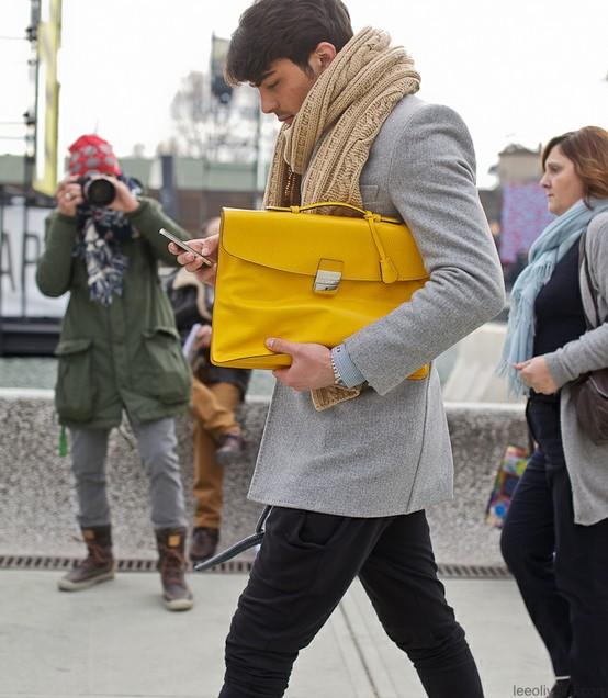 Yellow Bag for Man