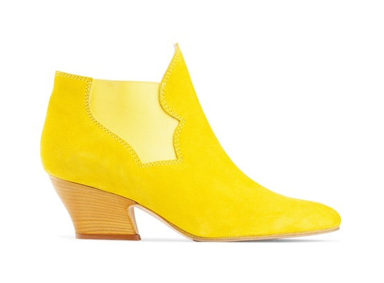 Yellow Chelsea Boots