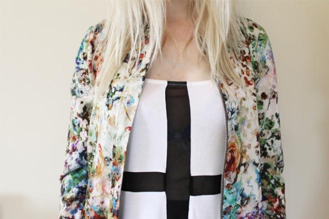 Chloe Printed Bomber Jacket