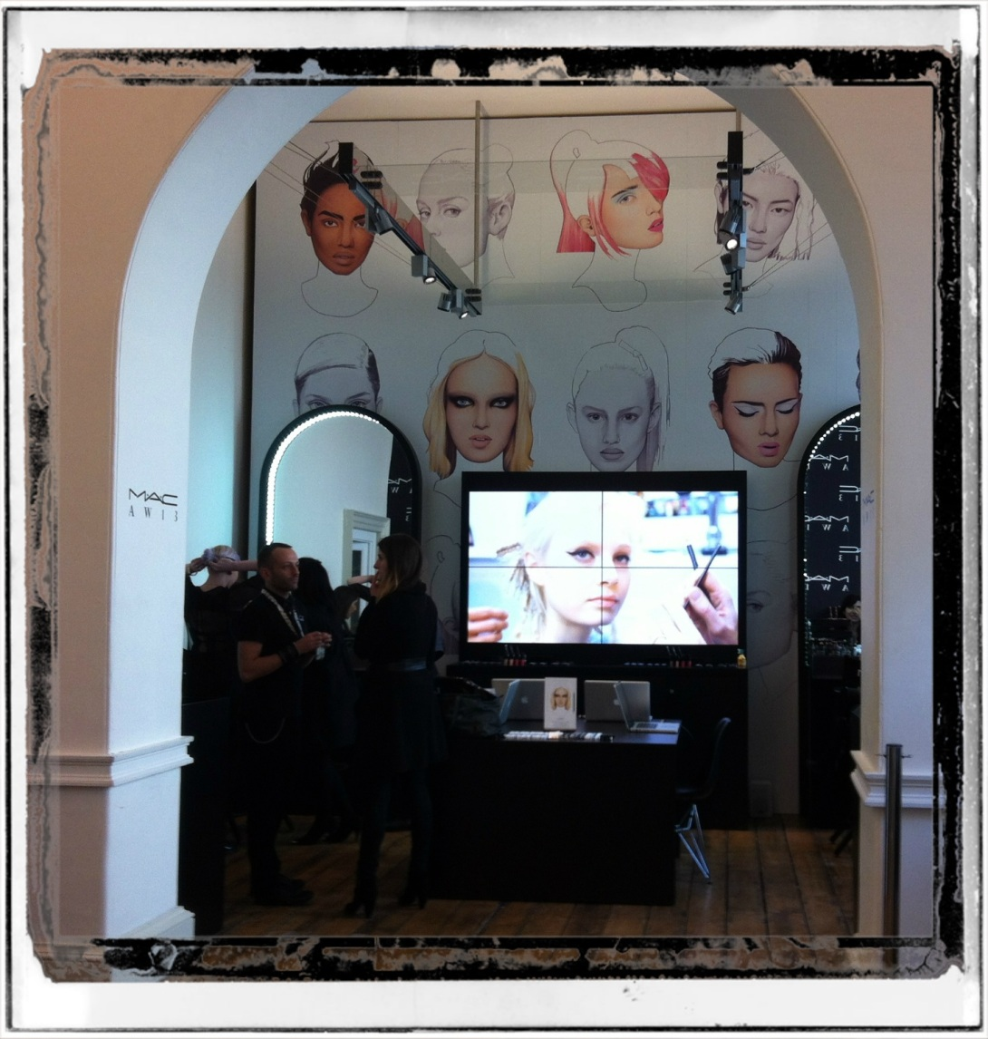 MAC stand at London Fashion Week AW13