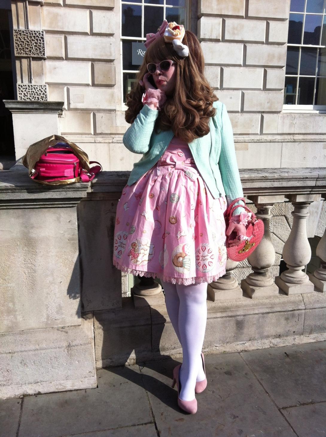 Florrie Clarke (blogger) at London Fashion Week AW13