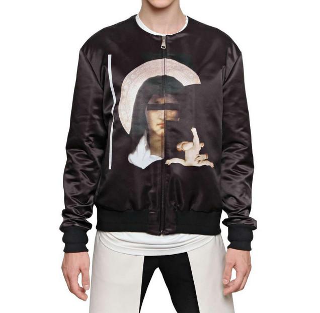 Madonna Print Bomber Jacket