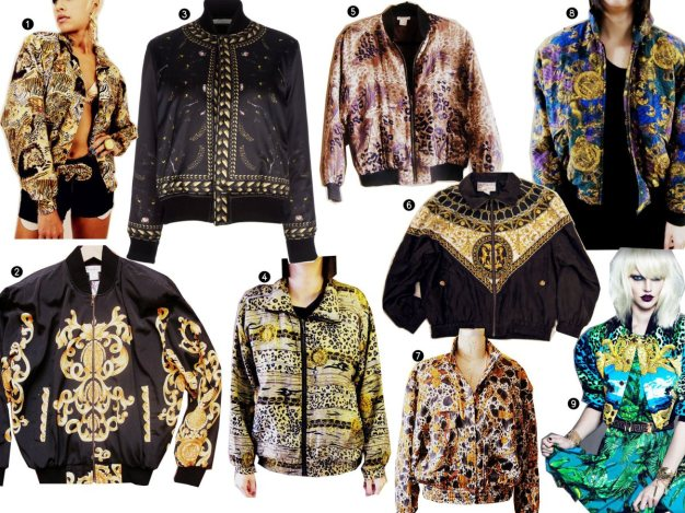 Printed Silk Bomber Jacket