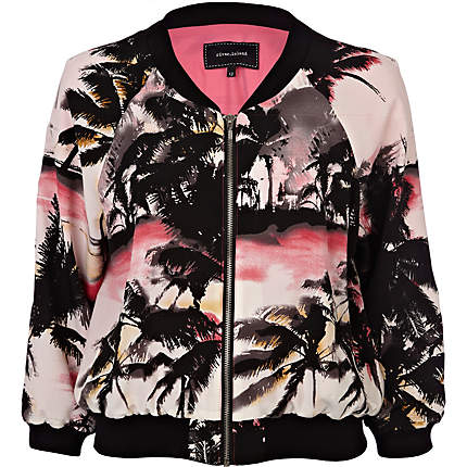 Printed Bomber Jacket from River Island