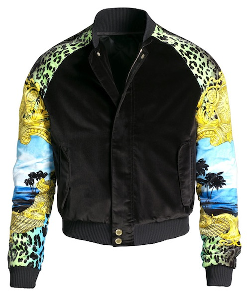 Versace for H&M printed bomber jacket