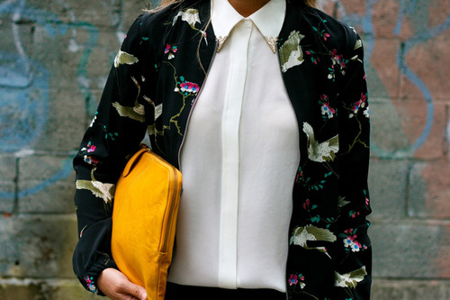 Printed Bomber Jacket from Zara