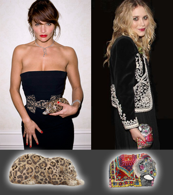 Celebrities with Animal clunch / Famosas con bolsos Animalia