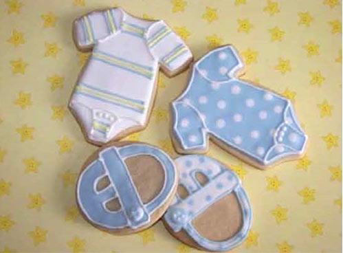 Baby Clothes biscuits / Galletas con forma de ropa de bebé