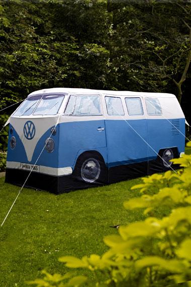 Vintage Ban tent / Tienda de campaña con forma de caravana vintage