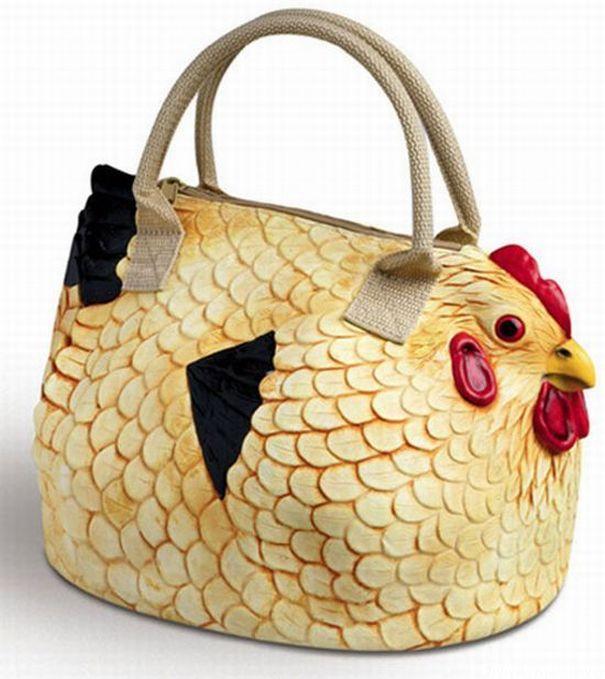 Chicken handbag / Bolso con forma de gallina