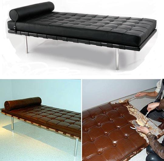 Chocolate cake bed / Pastel de chocolate con forma de cama