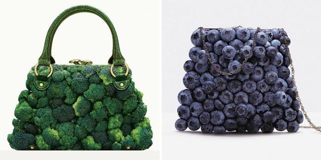 Fruit & Vegetable handbags / Bolsos con forma de frutas y Vegetales