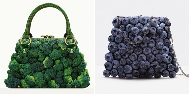 Fruit & Vegetable handbags / Bolsos con forma de frutas y Vegetales