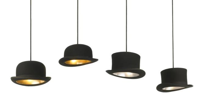 eeves & Wooster Jake Phipps lamps / Lámparas con forma de sombreros de Jake Phipps