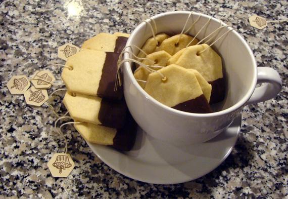 Label biscuits / Galletas con forma de etiquetas
