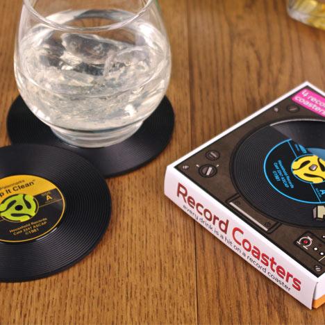 Vinil Table mat / Posavasos con forma de discos de vinilo