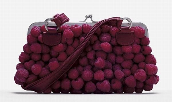 Rasperry clunch / Bolso fabricado con frambuesas
