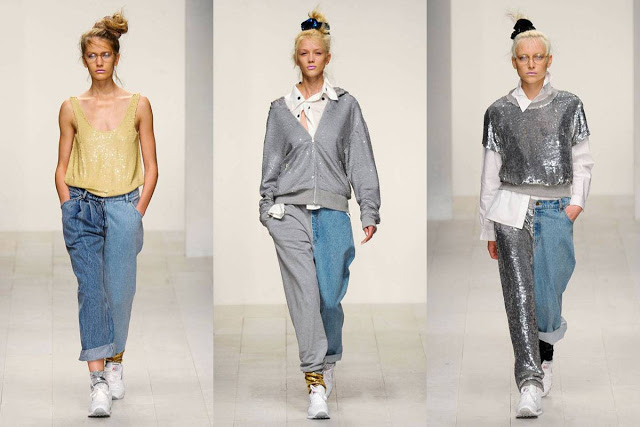 Denim + tracksuit fabric / chándal
