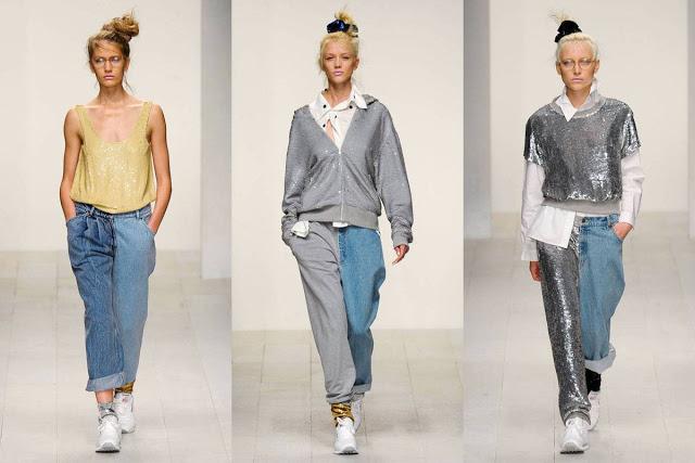Denim + tracksuit fabric / chándal