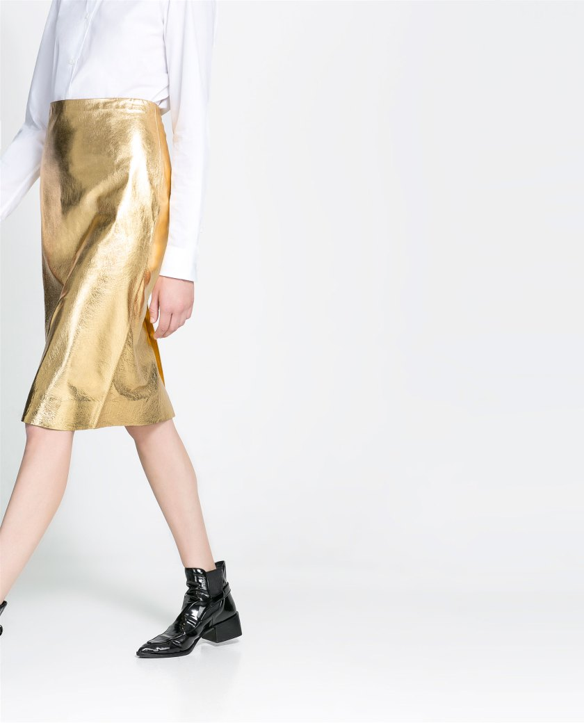 Gold & Patent leather