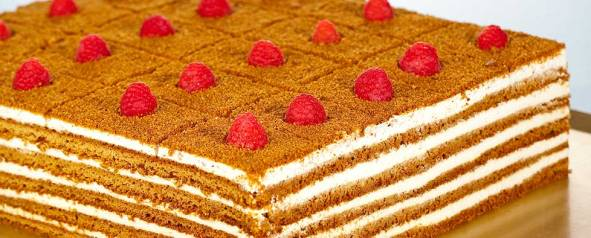 'Honey cake' at/en L'Eto Caffe, London