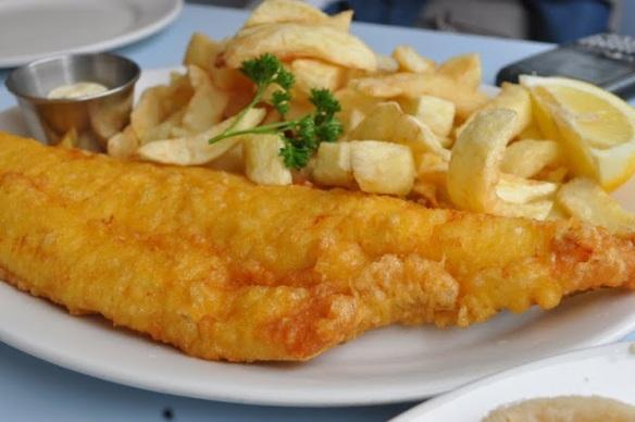 Fish&Chips at/en Poppies, London