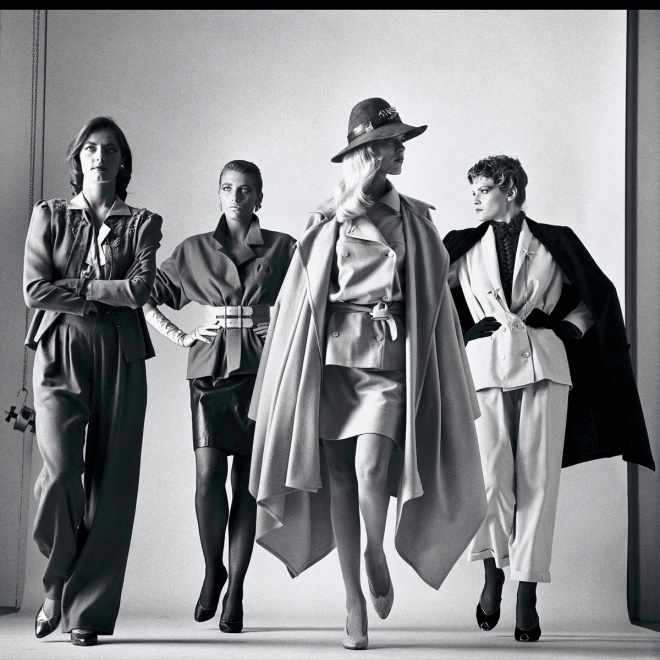 Here They Come by Helmut Newton