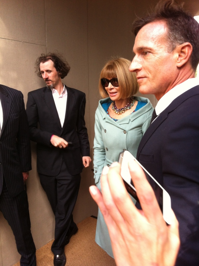 Anna Wintour at Burberry Prorsum SS14 Catwalk Show in Kensignton Gardens