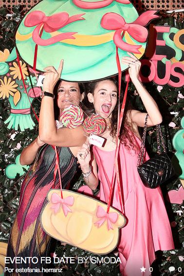 Carmen Grandes & Clara De Nadal Trias aka muymia at TOUS jewelry stand