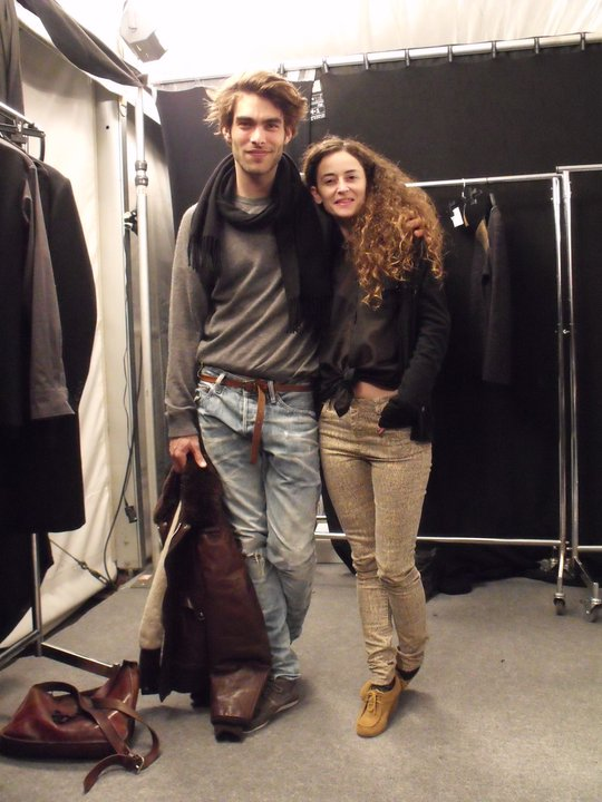 With Jon kortajarena at 080 barcelona Fashion backtage