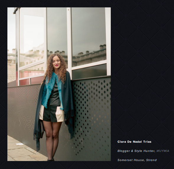 Clara De Nadal Trias spotted by Janvier January at London Fashion Week SS14