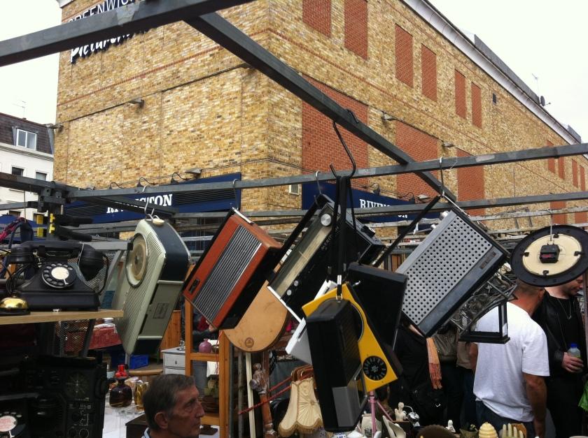 Oldie radios at Greenwich Market, Deptford, London
