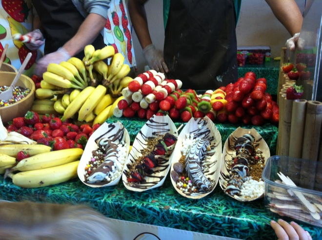 Banana Split stall at Greenwich Market, Deptford, London