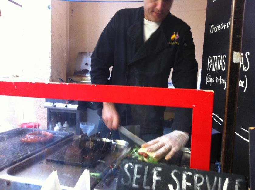 Grill Chorizo stall at Greenwich Market, Deptford, London