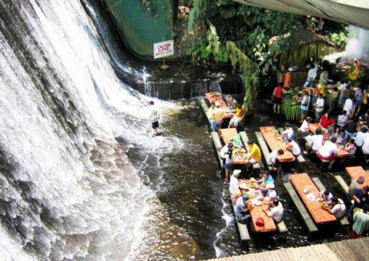 Philipines Waterfall Restaurant. Recommended by muymia.com