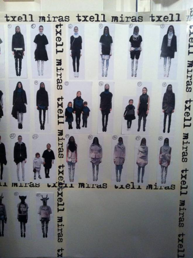 Txell Miras outfits for her catwalk show at 080 Barcelona Fashion AW14