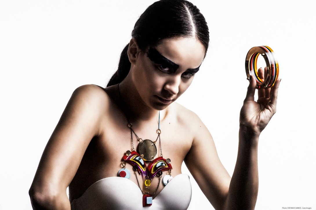 Architectural fashion jewelry by Nefelia