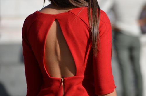 red back dress