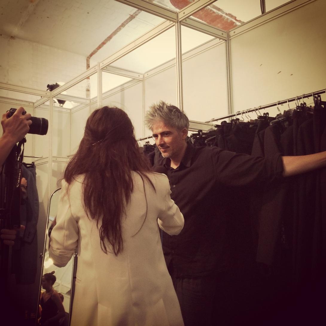 Menswear designer Josep Abril with Coolhunter Clara De Nadal Trias aka muymia