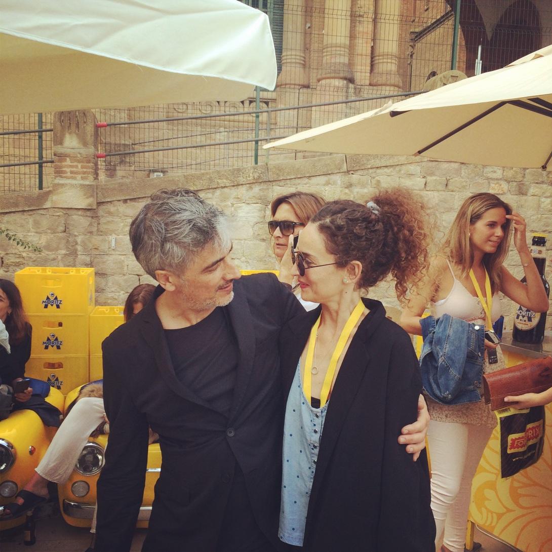 Menswear designer Josep Abril with Coolhunter Clara De Nadal Trias aka muymia (after the show)