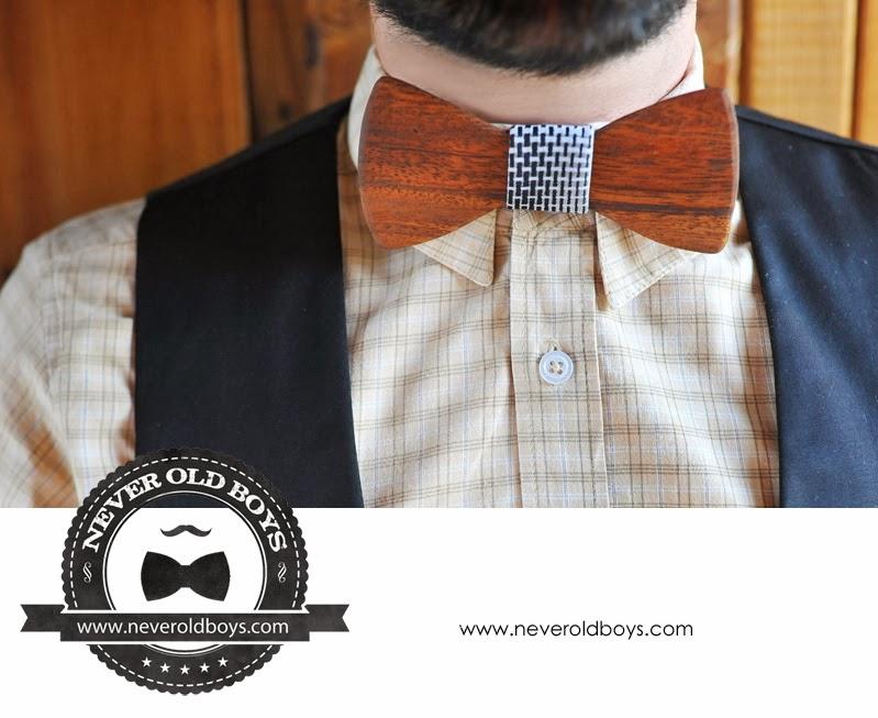 Never Old Boys // Wooden Bow-Tie // Pajarita de madera