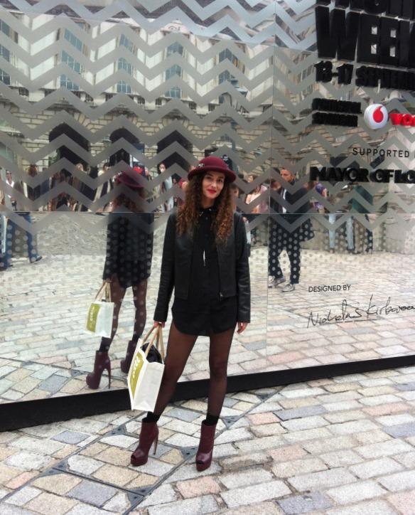 Clara De Nadal Trias at London Fashion Week