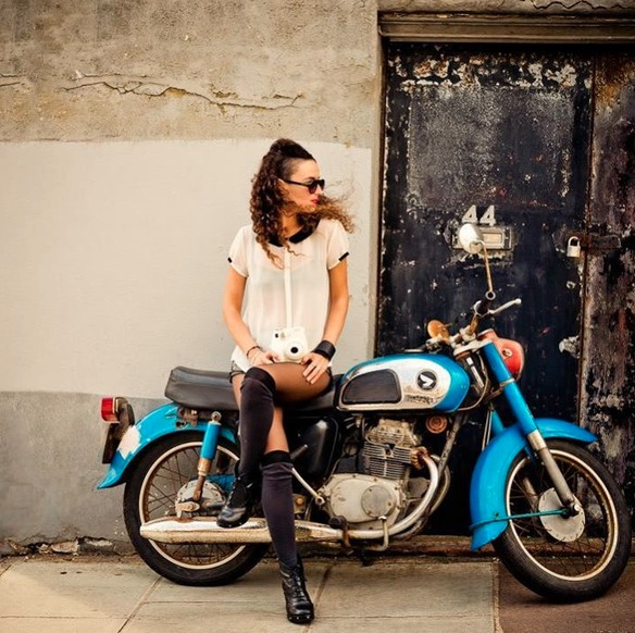 Clara De Nadal Trias modelling for Don Carlo Photography, London