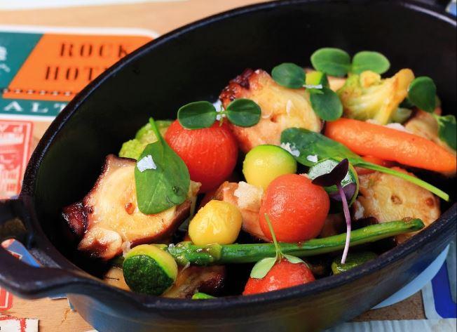 Octupus with vegeatbles / Pulpo con Vegetales