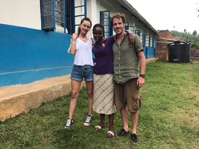 With Elizabeth, Director of the Bwindi Plus Nursery and Primary School